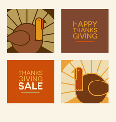 happy thanksgiving design elements vector image vector image