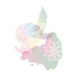 holi spring festival colors design element vector image