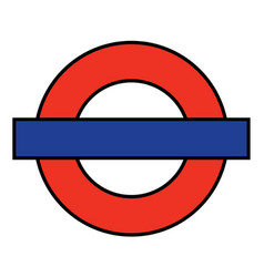 London underground blank vector