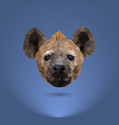 Low-poly predator the head of a hyena suitable vector