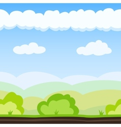 Meadow game background vector
