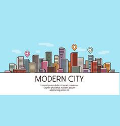 Modern city banner cityscape urban landscape vector
