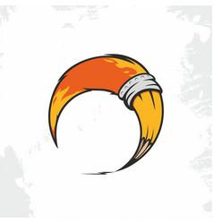 modern professional sign logo pencil fox vector image