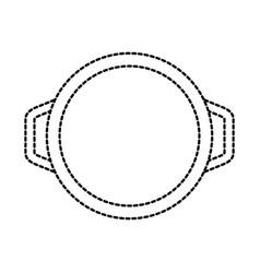 Pan frying casserole handle equipment vector