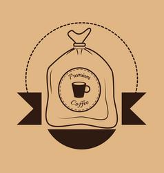 Premium coffee sac poster vector