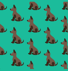 puppy seamless pattern vector image vector image
