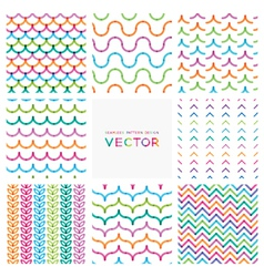 Set of colorful seamless patterns vector