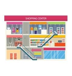Shopping center buiding design vector