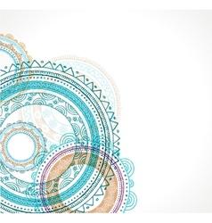 Tribal bohemian mandala background with round vector