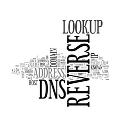 What is reverse dns text word cloud concept vector