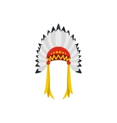 Native american indian headdress icon vector