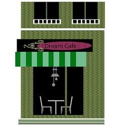 Dream cafe shopfront vector