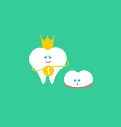 Kids teeth grow vector