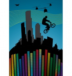 Guy on bmx vector
