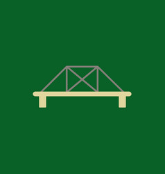 metal cable suspension bridge modern bridge vector image