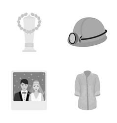 Business sport textile and other monochrome icon vector