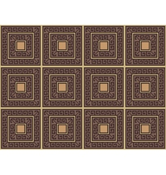 background with greek pattern vector image