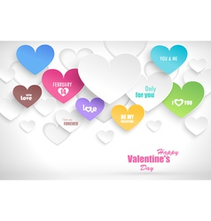 Paper hearts with shadow vector