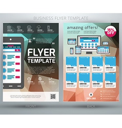 Abstract business flyer brochure template eps10 vector