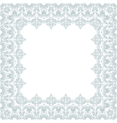 Floral frame abstract ornament vector
