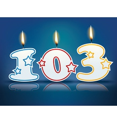 Birthday candle number 103 vector