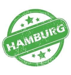 Hamburg green stamp vector