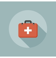 Medical box flat icon vector