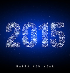 Happy new year on night sky vector