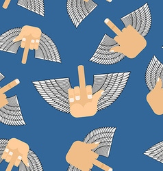 Winged fuck seamless pattern background for vector