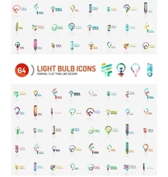 Mega set of light bulb logos vector