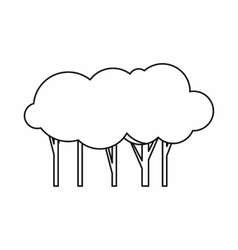 Lot of trees icon outline style vector