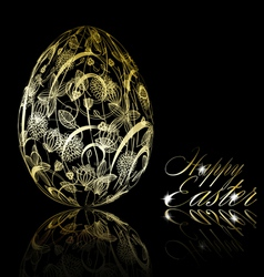 abstract golden easter egg vector image