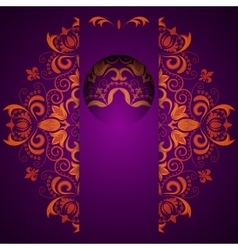 Abstract ornate decorative background with mandala vector