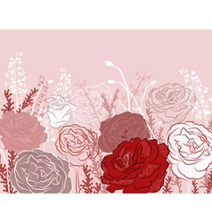 Beautiful rose design background vector