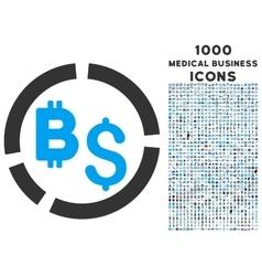 Bitcoin Financial Diagram Icon with 1000 Medical vector image vector image