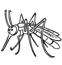 black and white mosquito vector image