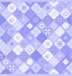 Blue rhombus modern tile background vector