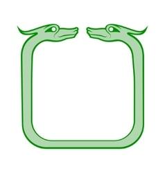 Celtic dog frame vector image vector image