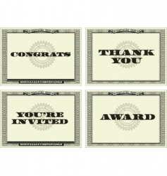 certificate style background set vector image