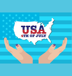creative fourth of july independence day poster vector image