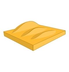 Desert sand dunes icon cartoon style vector
