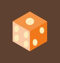 Dice flat design isolated dice casino gambling vector