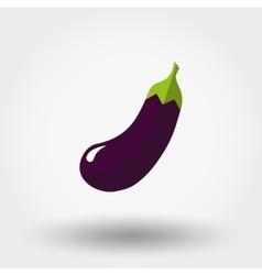 Eggplant icon Flat vector image