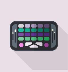 Eyeshadow palette flat vector