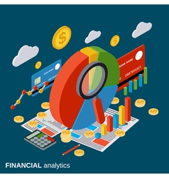 Financial analytics business report concept vector image vector image