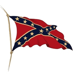 Flag of confederate vector