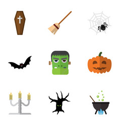 Flat icon festival set of terrible halloween vector