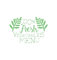 Fresh Vegetables Calligraphic Cafe Board vector image
