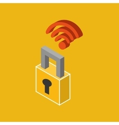 Global connection wifi digital security vector