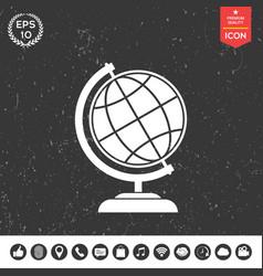 globe symbol - earth icon vector image vector image